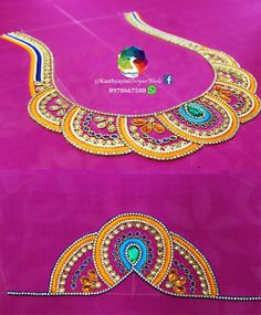 Aari Embroidery, Embroidery Neck Designs, Hand Embroidery Videos, Embroidery Suits Design, Hand Work Embroidery, Hand Work Blouse Design, Simple Blouse Designs, Sari Blouse Designs, Choli Designs