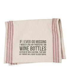 Look at this #zulilyfind! Wine Bottles Dish Towel #zulilyfinds