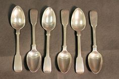 Currently at the #Catawiki auctions: Georgian Solid Silver Set of Six Spoons, London, 1820