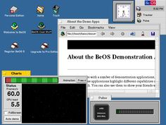 Desktop with applications in BeOS R5.0.1 PE