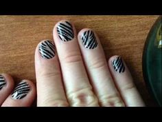 Zebra Glitter Nails - LiveGorgeous.TV - tons of tutorial videos on nails and makeup