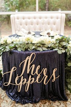 sweet heart table |wedding decor ideas | blue wedding | Photo: Allee J. Photography | Venue: Ashton Gardens North | Flowers: Blooms Design Studio