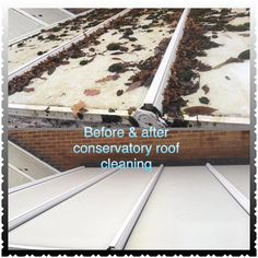 property care conservatory roof cleaning - Before and after. Conservatory Cleaning, Conservatory Roof, Roof Cleaning