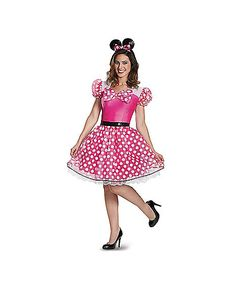 Glam Pink Minnie Mouse Adult Womens Costume - Spirithalloween.com