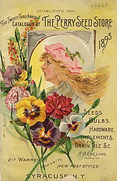 Vintage seed packet pictures: an internet search came up with many good links. The beauty of Victorian ephemera is quite fetching, especially since all images were hand drawn and painted. Links to free images of vintage seed packets are cataloged. Decoupage Vintage, Vintage Diy, Images Vintage, Vintage Labels, Vintage Ephemera, Vintage Cards, Vintage Pictures, Vintage Paper, Garden Catalogs