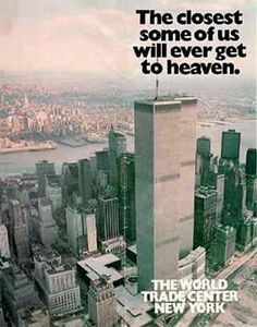 Old print advertisements that feature the World Trade Center. (World Trade Center Ads)