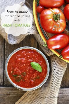 Yummy Mummy Kitchen: How to Make Marinara Sauce with Fresh Tomatoes