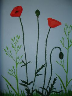 Poppy Mural for South Dublin County Council Zine, Dublin, Poppy, Artist, Painting, Artists, Painting Art, Paintings, Painted Canvas