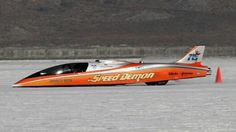 """Speed Demon"" set a new unofficial land speed record this week at the Bonneville Salt Flats during Speed Week."