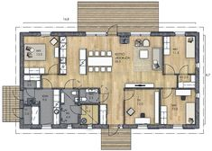 House Floor Plans, Home Interior Design, Future House, My Dream, Sweet Home, Layout, Cottage, Architecture, Building