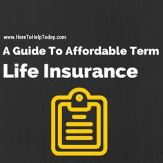 Check out our guides to #affordable #termlifeinsurance inside @heretohelptoday