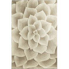 Pier One Rose Tufted Rug - Ivory 6x9 ($600) ❤ liked on Polyvore