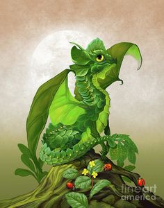 Spinach Dragon Art Print by Stanley Morrison.  All prints are professionally printed, packaged, and shipped within 3 - 4 business days. Choose from multiple sizes and hundreds of frame and mat options.