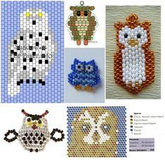 I do love my owls Pony Bead Patterns, Owl Patterns, Beaded Jewelry Patterns, Peyote Patterns, Beading Patterns, Beading Projects, Beading Tutorials, Beaded Banners, Do It Yourself Jewelry