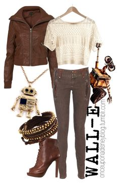 """Wall-e"" by disneyoutfits ❤ liked on Polyvore featuring Chan Luu, One Step and Miu Miu"