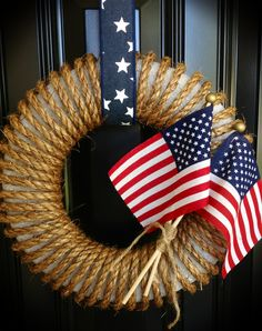 My 4th of July wreath - easy peasy to make!