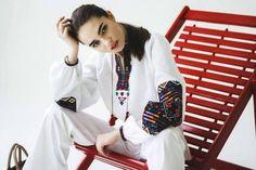 Dubai Fashion, Boho Fashion, Fashion Design, Shirt Embroidery, Embroidered Blouse, Boho Chic, Bohemian, Ukraine, Style Inspiration