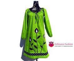 Tunika Kleid Hänger  Blume Blumenkleid  von Zellmann Fashion auf DaWanda.com