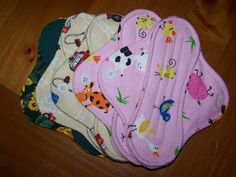 Reusable cloth panty liners.