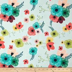 Art Gallery Happy Home Table Flowers Rainbow from @fabricdotcom  Designed by Sew Caroline for Art Gallery, this cotton print fabric is perfect for quilting, apparel and home decor accents. Art Gallery Fabric features 200 thread count of finely woven cotton. Colors include black, burgundy, teal, coral, turquoise, shades of green, yellow, pink and light blue.  check