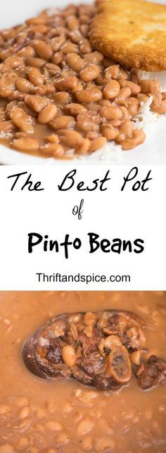 These are the best pot of pinto beans you will ever have! They are an excellent option for dinner as they are cheap and tasty! (Asian Recipes For Dinner) Slow Cooker Recipes, Crockpot Recipes, Soup Recipes, Cooking Recipes, Beans Recipes, Recipies, Dinner Recipes, Lentil Recipes, Ww Recipes