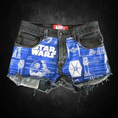 Star Wars Cutoff Shorts, I wish I could fit in these pair of shorts...very cool