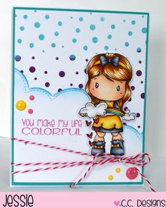 Today is RELEASE DAY for the new FEBRUARY Stamps at C.C. Designs. As you have seen from our Preview Days, these new stamps revolve around Rainbows, Puddles, and Leprechauns, which of course are per…