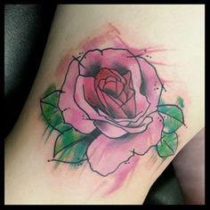 rose tattoos watercolor - Google Search
