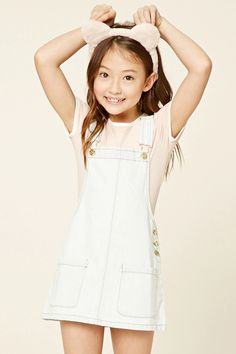 Forever 21 Girls - A slub knit ringer bodysuit featuring a round neckline, short sleeves, and a snap-button closure. Fashion Kids, Preteen Girls Fashion, Girls Fashion Clothes, Tween Girls, Fashion Outfits, Fashion Fashion, Bikini Fashion, Womens Fashion, Cute Girl Outfits