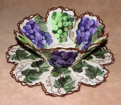 Lace Bowl & Doily:  Vintage Grapes  Grapes taken from Fred's Vintage Wine Set and modified to make this FSL bowl and doily. Leaves and vines were also added.  This coordinates both with the Vintage Wine set and the Vintage Wine Quilt Set. Links to both are below in the Comments.  Don't forget to pick up your #FREE 4x4 samples on almost every page of our site!