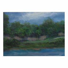 KESS InHouse Cyndi Steen 'a Cooler View' Blue Green Dog Place Mat, 13' x 18' >>> Quickly view this special dog product, click the image : Dog food container