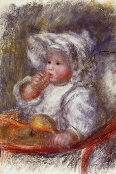 Jean Renoir in a Chair (also known as Child with a Biscuit) Pierre Auguste Renoir - circa 1895