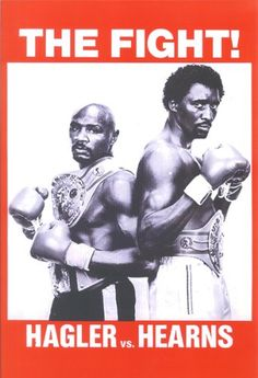 Boxing Las Vegas Tommy Hearns vs Marvin Hagler Poster 1985