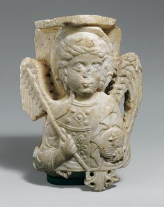 Capital with Bust of the Archangel Michael, ca. 1250–1300 Byzantine;