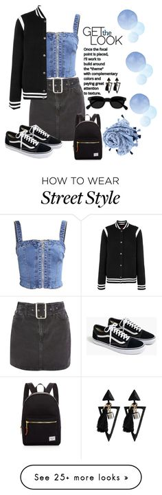 """Street Look"" by foxxyslang on Polyvore featuring Topshop, Givenchy, J.Crew and Herschel Supply Co."