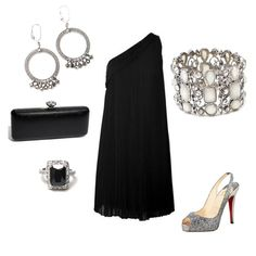 Great for a night out. Knock Out bracelet, Couture ring, and Unforgettable earrings