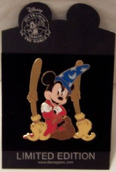 Disney Sorcerer Mickey Mouse LE 500 Jumbo Pin New On Card $44.99