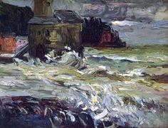 wonderingaboutitall:  Stormy Day -  Wassily Kandinsky