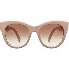 Stella McCartney Statement Sunglasses (1733200 PYG) ❤ liked on Polyvore featuring accessories, eyewear, sunglasses, glasses, pink, pink glasses, round glasses, stella mccartney, beach sunglasses and rounded glasses