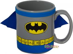 Superman And Batman Caped Coffee Mugs