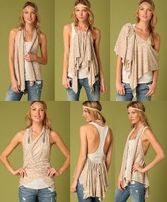 VCTRY's BLOG: Capa convertible Swing Wrap de Free People (multip...