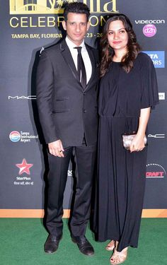 Sharman Joshi with wife Prerana Chopra on green carpet at #IIFA Awards 2014. #Style #Bollywood #Fashion #Beauty #Handsome
