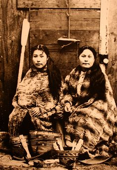 Haida women. The Haida, a North American native culture, settled in the Canadian Queen Charlotte Islands and Alaska area over 8000 years ago.