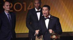Balón de Oro 2014: Cristiano Ronaldo y su extraño grito tras ganar / VIDEO #Depor