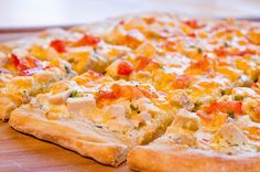 Chicken Ranch Pizza by Pennies on a Platter