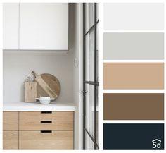 Color palette, white kitchen and wood, PLANNER 3d Home Design, Wood Interior Design, Contemporary Interior Design, Bedroom Colour Palette, Colour Pallete, Bedroom Colors, House Color Palettes, Pantone Colour Palettes, Apartment Color Schemes