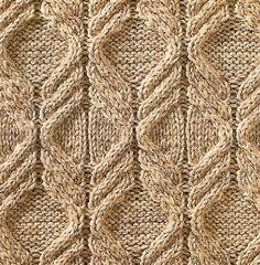 Узор из кос (жгутов) №17, вязаный спицами