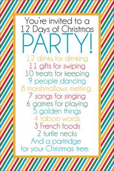 This fun 12 days of christmas party has it all gift ideas this fun 12 days of christmas party has it all gift ideas printables stopboris Gallery