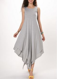 dress for women Light Grey Sleeveless Asymmetric Hem Tunic DressWomen S Fashion Designer Brands ProductCheap sexy club party dresses Dresses online for saleShop sexy club party dresses Dresses online,Dresses with cheap wholesale price,shipping to wor Party Dress Sale, Club Party Dresses, Women's Fashion Dresses, Sexy Dresses, Casual Dresses, Fashion 2018, Fashion Online, Tunic Dresses, Fashion Stores