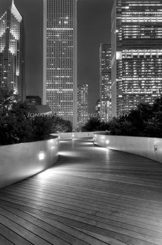 Parque del Milenio en la noche, Chicago